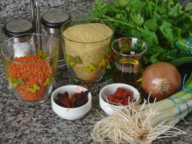 Lentil Patties Recipe Malzemeleri